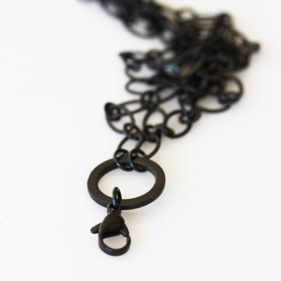 Cable Necklace - Black Tone - 30 inch